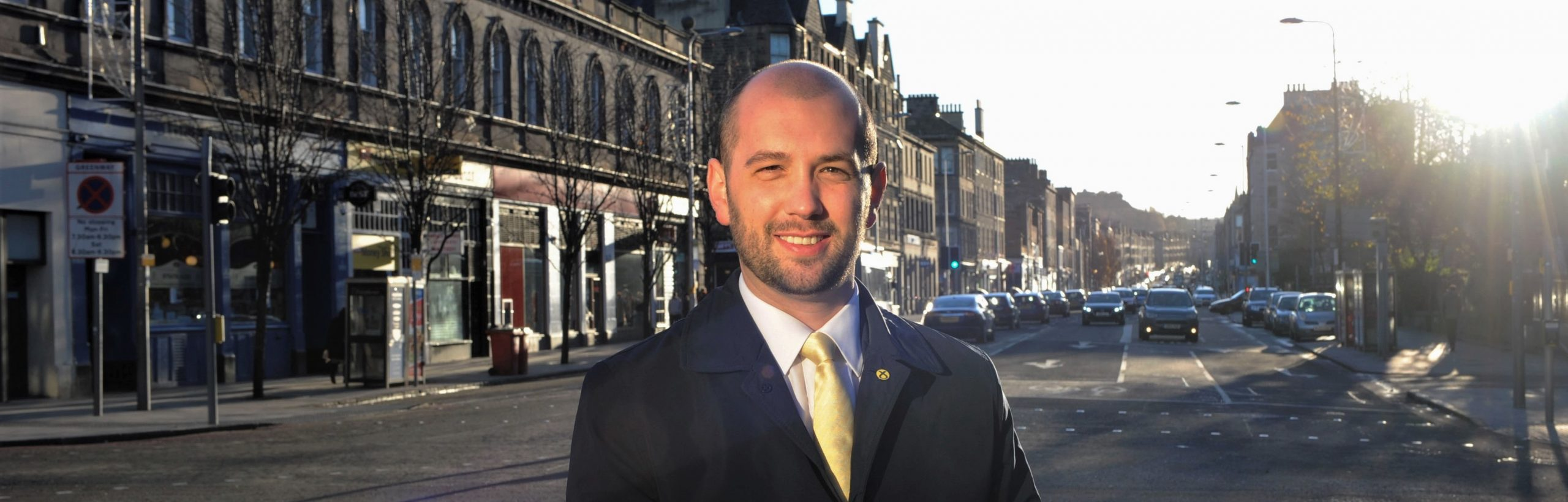 Ben Macpherson at the foot of Leith Walk