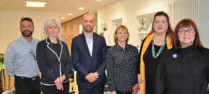 Ben visited Volunteer Edinburgh & EVOC staff alongside Leith Walk councillors Susan Rae and Amy McNeese-Mechan