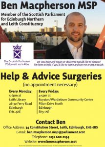 Surgery Poster Ben Macpherson MSP